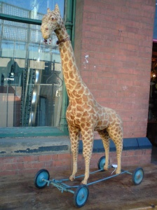 Giraffe on wheels, St Pancras/Camden Town