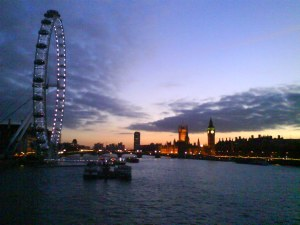Sunset from Hungerford Bridge